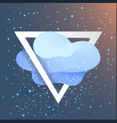 triangle with flat cloud and snow like star vector image