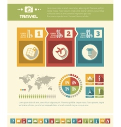 Travel infographic template vector