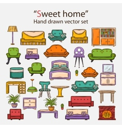 Sweet home set vector