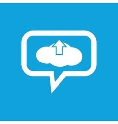 Cloud upload message icon vector