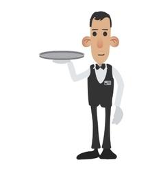 Waiter cartoon icon vector image