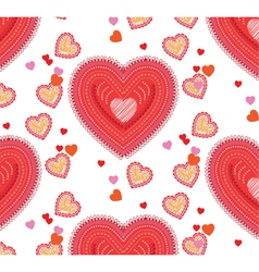 Valentine seamless background with hearts vector