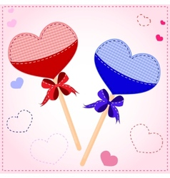 Lollipop valentines card vector