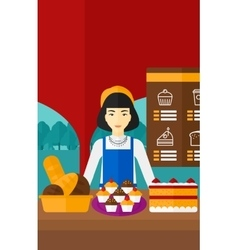 Successful small business owner vector