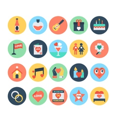 Love and romance icons 4 vector