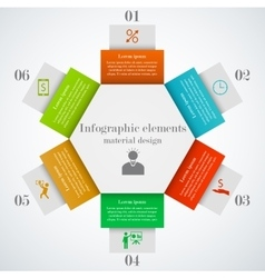 Hexagon infographic elements vector