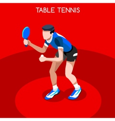 Table Tennis 2016 Summer Games 3D Isometric vector image