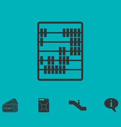 abacus icon flat vector image