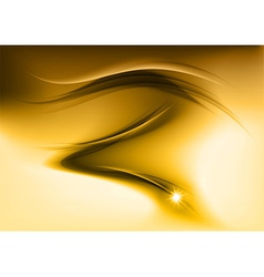 Abstract smoke gold vector