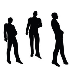 Businessman standing on white background vector