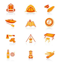 Camping set - JUICY series vector image