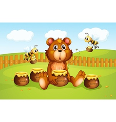 Cartoon Honeybee Bear vector image vector image