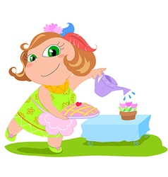 Cartoon housewife vector