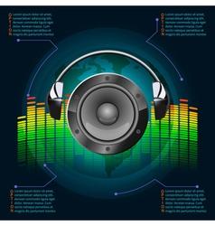 Dark music infographics vector