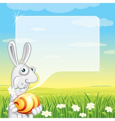 easter bunny speech vector image vector image