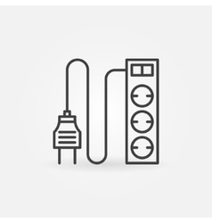 Extension cord icon or logo vector