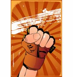 fist poster vector image vector image