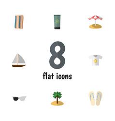 Flat icon summer set of beach sandals vector