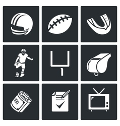 Football Icons Set vector image vector image