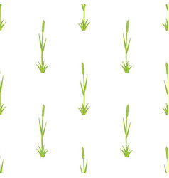 fresh grass seamless pattern vector image