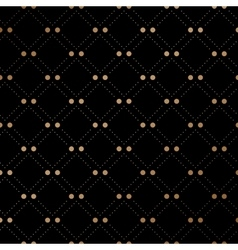 Gold veil seamless pattern on black background vector image vector image