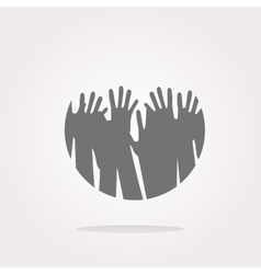 Hands Hands Icon Hands Icon Hands button vector image vector image