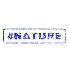 Hashtag nature rubber stamp vector