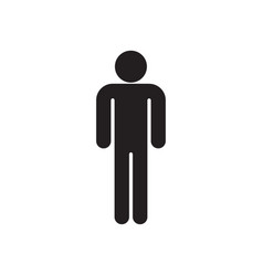 man black silhouette vector image vector image