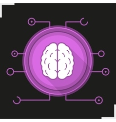 Neural networks icon vector