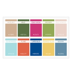 Palette colors spring 2017 with name vector