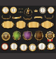 retro vintage golden labels collection vector image vector image