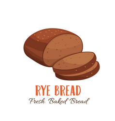 Rye bread icon for vector