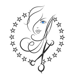 symbol of beauty and hair salon vector image