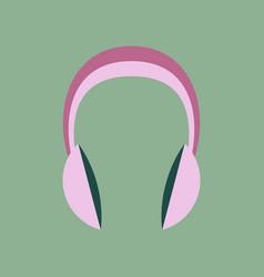 Technology gadget in flat design headphones stereo vector