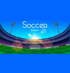 the soccer stadium vector image