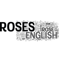What do you know about the english rose text word vector