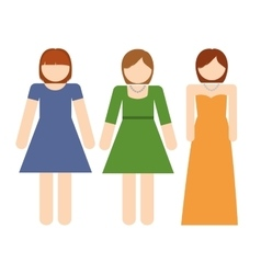 Girls icon avatar family design graphic vector