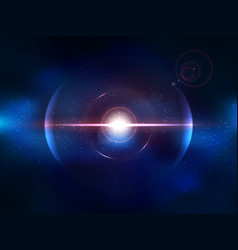 blue space explosion cosmos burst vector image