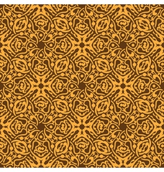 Yellow floral seamless wallpaper pattern vector