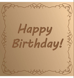 happy birthday - cut out of paper - greeting vector image