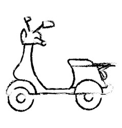 Scooter motorcycle isolated icon vector