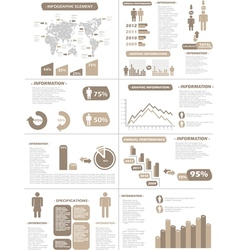 Infographic demographics new style brown vector