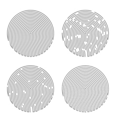 Black isolated fingerprint vector