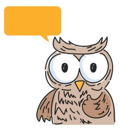 Owl balloon talk vector