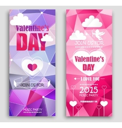 Colored banners for valentines day vector