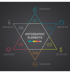 Six-pointed star presentation infographic vector