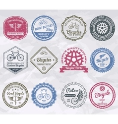 Cycling emblems stamps vector