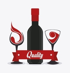 Wine shop design vector
