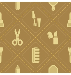 Seamless background with female stuff vector