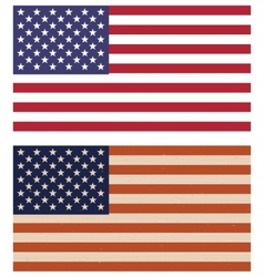 Two variants of american flags vector